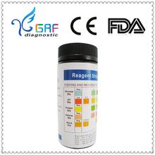visual diabetic urine test 5PARA diagnostic test kits manufactur Glucose, PH, Protein, Ketone, Blood analysis test urine strip