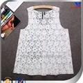 2014 laço branco sexy design bela senhora blusa crochet