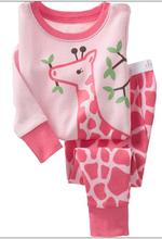 Hot ! fabrics to make pajamas kids animal night dress cute winter pajamas