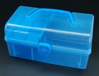 storage case with compartment tray