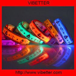 New Safety LED Collar Flashing LED Light W/circular Pendant,Led dog collar