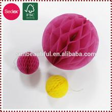 Round honeycomb ball as christmas decoration/home decor