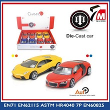 New 1:24 scale with music and light pull back intelligent diy model metal car toy