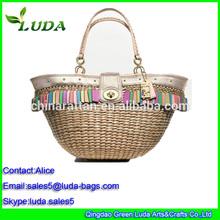 Luda European Style Summer Bag Cool Corn Husk Straw Bag