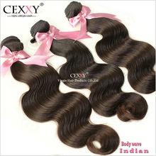 Full cuticle 3 bundles overseas hair weaves for black women