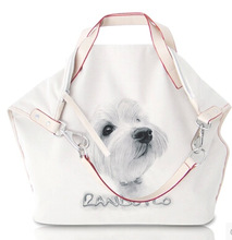 fashion bags ladies bags with cute dog printing for promotion for girls