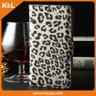 white leopard pattern Leather, Mobile Phone PU Case for Samsung S5 PU leather, for Galaxy S5, 9600,