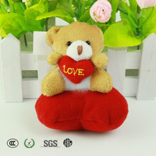 cute animals valentine's day gift soft toy,plush animal with heart,wedding gift