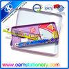 Professional stationery set metal pencil box set including pencils/ruler/eraser/sharpener