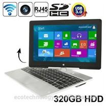"Rotatable 11.6"" Win8 Notebook Laptop Intel Celeron 1037U 1.8GHz Dual-core Camera 2.0M FULL HD 1080P"