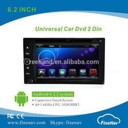 "Finenav 6.2"" Android 4.2.2 Universal Car DVD Gps Navi,3G,Wifi,Bluetooth,Ipod Support Rear View Camera,DVR"