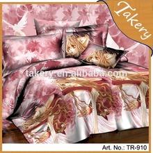 polyester cheapest price kids children lovly girl pattern 3D Bedding set