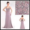Elegant V neck and backless fancy beaded sequins sexy vest tank top sleeveless sexy back prom dress
