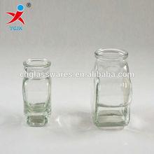 HEART SHAPE GLASS BOTTLE WITH CORK SEAL/SMALL GLASS BOTTLE