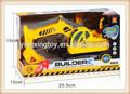 Novo produto 1:10 plástico crianças brinquedo de construção som do carro e luz carro de fricção