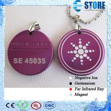 Wholesale Purple Aluminium Quantum Ions Energy Pendant