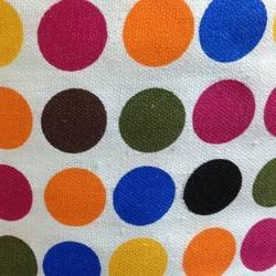 10 oz woven polyester cotton blend fabric dot pattern handbags printed canvas fabric