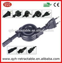 Black European standard power cord for table light