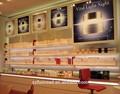 Modern mdf cosméticos/madeira mostrar vitrine de exibição, oficina de montagem