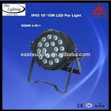 china led stage lighting systems 18*10 dmx light 8CH/best price led par64 light