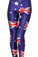 2014 fashion clothing slimming australia flag leggings