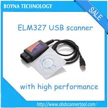 New 2014 Hot Selling For ELM327 V1.5 Scanner Software USB Plastic with FT232RL Chip ELM327 USB Best Price Now !!