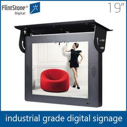 19 inch flintstone auto loop play heavy duty build electronic billboard, bus lcd billboard display, indoor lcd billboard display