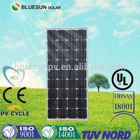 Bluesun high quality mono solar panel 130w