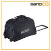 2014 promotion fashion black trolley bag, rolling duffel