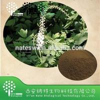 GMP Manufacturer 100% Natural Black Cohosh Extract Powder Triterpenoid Saponins 2.5%8%