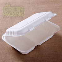 Sugarcane biodegradable takeaway food container