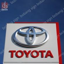 Custom Plastic Material 3D Chrome Auto Sign Board / Acrylic Auto Sign Board