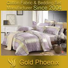 2014 latest colorful stripe cotton 4pcs king size bedding set wholesale china