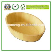 oval old eco-friendly decorative mini wooden bucket wholesale