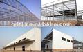 techo curvo diseño estructural de acero cubierto de almacén de taller