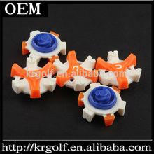China Wholesale White&Orange&Blue CHAMP White & Stinger Tri-LOK Fast Twist Golf Spikes Bulk Packed