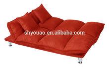 Fashion Suede floor sofa With Metal Feet B153b