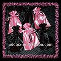 100% decoração de poliéster saco de tecido de cetim