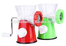 2014 hot sell mini manual meat mincer, household plastic meat grinder, vegetable mincer