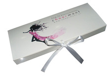 Flip Lid Folding Ribbon Paper Hair Weaves Products Box