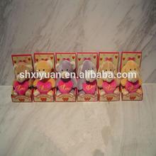 Mini classic stuffed plush animal toy in display box