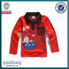 OEM manufacturer 2-14years children polo collar tee tops safety polo t shirt factory