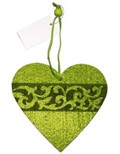 cyan hot high quality and new products wholesale hanging felt heart ornament sale made in China on alibaba express for wedding