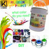 Removeable plastic coating spray car rubber paint