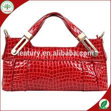 2014 fashion lasted 100% genuine leather purse and handbag for lady