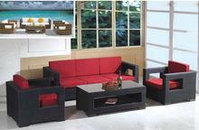 2014 hot sale new design 3 seats used hotel furniture outdoor Rattan Sofa Sets