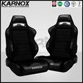 Couro preto e pano JDM estilo de corrida assentos reclináveis par, Deriva assentos de ônibus, Cadeira auto