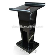 Airport verification podium black acrylic podium,high-grade generous acrylic podium platform dais lectern