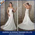 2014 populares frisada sereia strapless corpete plissado trem sweep celtic vestidos de noiva
