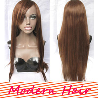 2014 natural straight Chinese side bang lace front wig